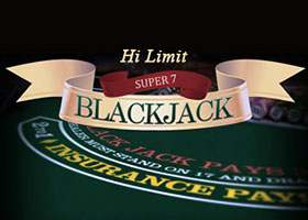 Super 7 Blackjack Hi Limit Blackjack